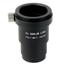 "Black 1.25"" 31.7mm 2X Barlow Lens Multi-Coated M42x0.75 for Telescope Eyepieces"
