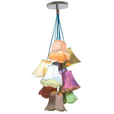 Emily Vintage Saloon Chandelier Pendant Lamp Flowers, 9 Light - 31592