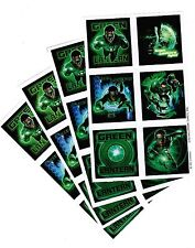 4 NEW SHEETS GREEN Lantern Scrapbook Stickers Super Hero Ryan Reynolds