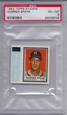 1962 Topps Stamps Warren Spahn EX MT PSA 6
