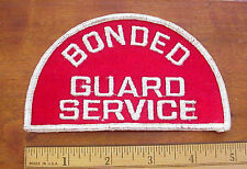 Vintage Bonded Guard Service Cheese Cloth Backing Sew On Security Patch NOS