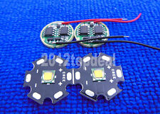 2PCS Cree XML-T6 White Color 10W LED Emitter on 20mm Star PCB with DC3.7V Driver