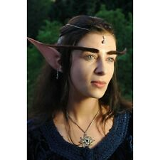 Prosthetic Ears Dark Elf Long Pointed Fancy Dress LARPing with 2ml Fixative