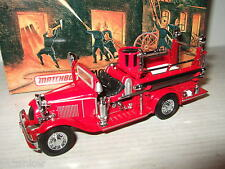 Mib rare matchbox YFE09 1932 ford aa open cab fire engine diecast model