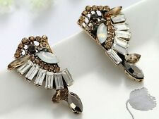 1 Pair Elegant Green Crystal Rhinestone  Ear Drop Dangle Stud long Earrings 194