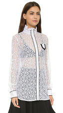 No. 21 Lace High Collar White  Blouse IT 44 / UK 12 ** Harrods**