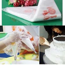 100PCS Disposable Bags Icing Nozzle Fondant Cake Decorating Pastry Tool #A