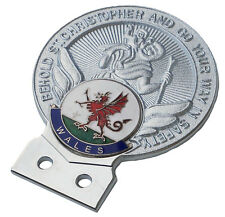 St Christopher Wales car grille badge