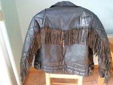 Vintage leather biker jacket-MEDIUM-TT LEATHERS-M-NICELY SCUFFED-CAFE RACER-MED