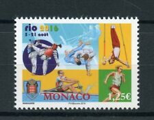 Monaco 2016 neuf sans charnière olympic summer games rio 2016 1v set jeux olympiques timbres