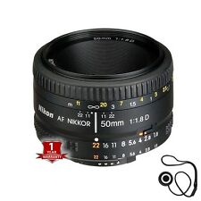 Brand New Nikon AF Nikkor 50mm f/1.8D Lens for Nikon DSLR Cameras with CapKeeper