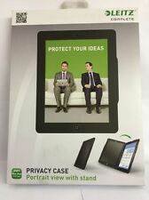 Leitz Complete Privacy Hard Case Black Portrait Cover With Stand For iPad 2/3/4