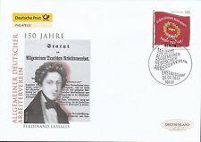 BRD 2013 Deutsche Post FDC MiNr. 2997 / Allgemeiner Deutscher Arbeiterverein