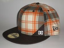 New Era 59Fifty DC Shoes FABERGAST Hat Brown 7 ($35) Cap Plaid Skate SNOW Moto