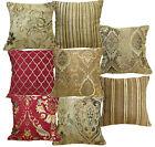 Damask Checker Stripe Floral Match Color Cotton Blend Cushion Cover/Pillow Case