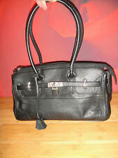 Superb JOSHUA TAYLOR black leather  shoulder  bag  handbag