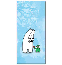 ~ Polo peur - 20cm x 50cm-Urban graffiti sur toile. kidrobot, polar bear Monster ~