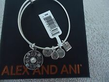 Alex and Ani WINGS OF CHANGE Rafaelian Silver Finish Bangle New W/Tag Card & Box