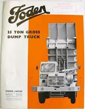 FODEN 35 Ton Gross Dump Truck Original Commercials Sales Brochure #49/2/66 1966