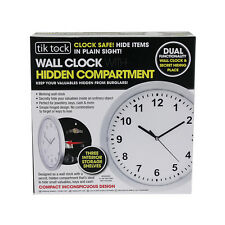 WALL CLOCK SAFE SECRET STASH HIDDEN MONEY SECURITY CASH  BOX MENS BOYS XMAS GIFT