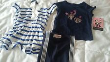 NWT LOT 12 months Ralph Lauren shorts romper Juicy leggings & Paul Frank top