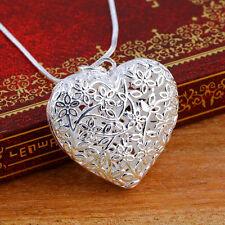 Fashion Women Exquisite Hollow Heart Shape Pendant Chain Necklace K7