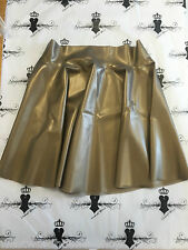 R069 Rubber Latex *PS GOLD*  Westward Bound Skating Skirt 16 UK CHEERLEADER
