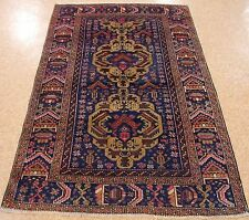 4 x 7 AFGHAN BALOUCH TRIBAL Hand Knotted Wool BLUE REDS BROWNS NEW Oriental Rug
