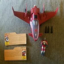GI Joe 25th Cobra Firebat Jet Complete w/ AVAC pilot And File Cards