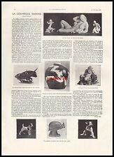 Publicité La céramique DANOISE Nielsen Gaugin Design Jensen Art Deco  ad 1925