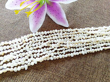 4-6mm Natural Beige Freshwater Pearl Irregular Jewelry Making loose Spacer Beads