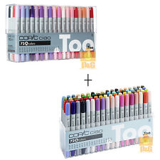 TOO COPIC Ciao Set A + B 72 color 72A + 72B PEN SET Artists Markers Anime Comic