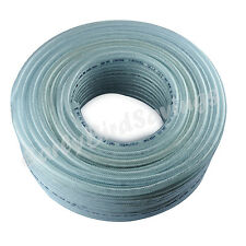 Clear Braided Flexible PVC Hose Pipe Reinforced Tubing for Water Pump Car Wash