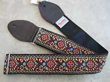 SOULDIER Guitar Strap JIMI HENDRIX Peacock Tobacco Brown Vintage Style Woven