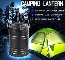 6 LED Collapsible Solar Outdoor Rechargeable Camping Lantern LED Hand Light Lamp