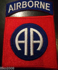 82ND AIRBORNE DIVISION/ ALL AMERICAN, EMBROIDERED PATCH, FREE UK POSTAGE