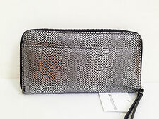 LOW BID! NEW Authentic LIZ CLAIBORNE Zip Around Clutch Wallet Wristlet Python