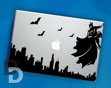 Batman Cityscape Macbook decal / Vinyl Laptop sticker / Dark Night Stencil