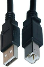 """Lot5 6""""inch short USB 2.0 A~B AB Printer/Device Adapter Cable/Cord/Wire {BLACK"""