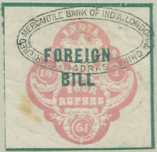 INDIA 1860 4R FOREIGN BILL EMBOSSED REVENUE FISCAL DUTY TAX