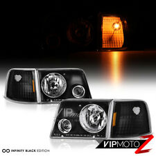1993-1994-1995-1996-1997 Ford Ranger Black Projector Headlights Corner Signal