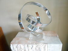Vintage Mid-Century Modern Dan Murphy 1979 ABSTRACT Kinetic Lucite  SCULPTURE