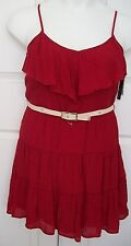 NEW WITH TAG BCX Summer Sun Dress Women's/Junior's Sz M Fully Lined  Belt