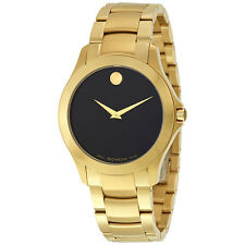 Movado Masino Yellow Gold PVD Stainless Steel Mens Watch 0607034