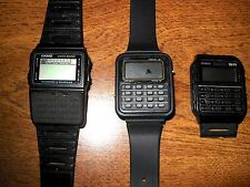 "Vintage Casio Calculator Watches, DBC-61. CA-53W.  ""For the Digital Fan"" L@@K"