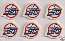 """Winnipeg Jets Felt Patch 6 Pack (Crest) 2"""" Diameter"""