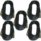 5pack 50 Ft Foot XLR Male to Female SHIELDED powered speaker wire Cable mic cord