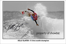 * KELLY SLATER * signed poster! large in size. perfect for surfing fans !!