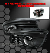 06-10 VW JETTA MK5 BUMPER PROJECTOR FOG LIGHT LAMP+FRONT LOWER GRILLE COVER TRIM