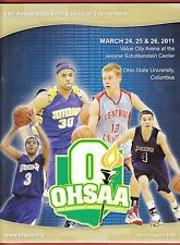 2011 OHIO High School BOYS STATE BASKETBALL TOURNAMENT Program w/TREY BURKE